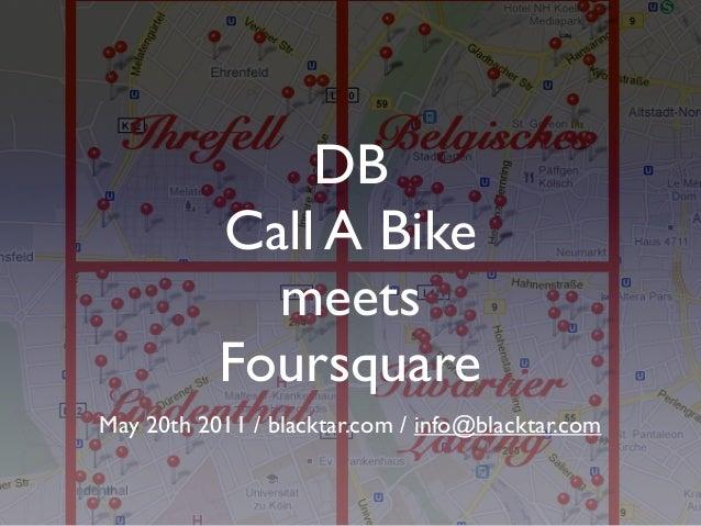 DB Call-A-Bike meets Foursquare