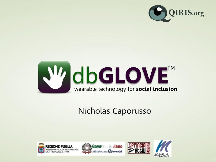 dbGLOVE (presentation at Silicon Valley Personal Health Technology)