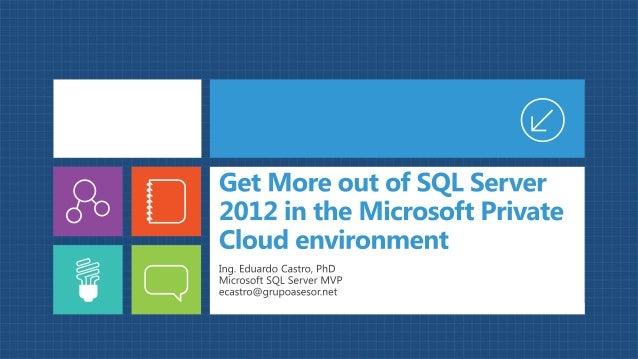 Obtenga más de Microsoft SQL Server  2012 en el entorno de nube privada