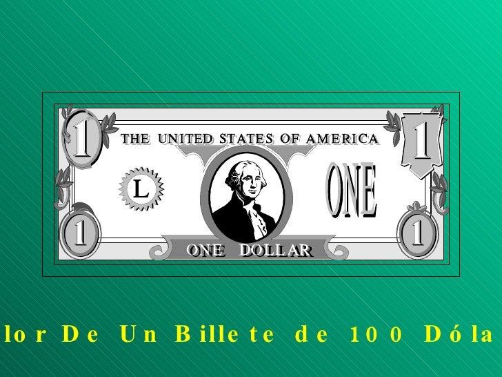 BILLETE DE 100 DOLARES