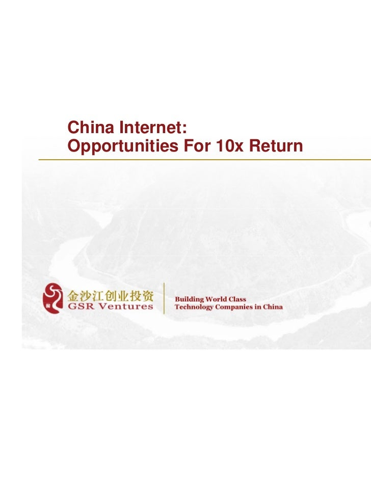China Internet Opportunities 2011