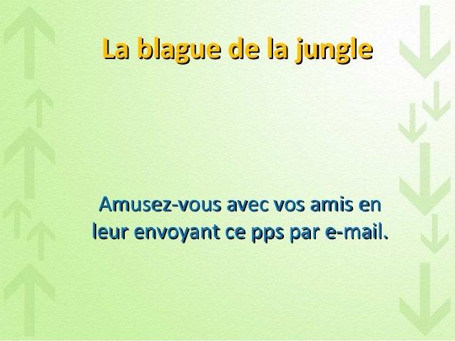 La blague de la jungleLa blague de la jungleAmusez-vous avec vos amis enAmusez-vous avec vos amis enleur envoyant ce pps p...