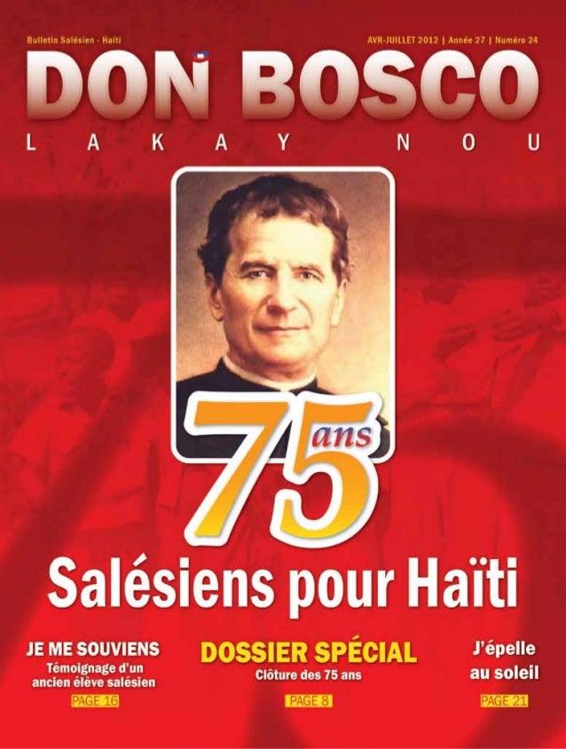 SOMMAIRE Route Circuit d'Haïti BP 13233 - Delmas tél. : (509) 37.41.08.38 / 31.10.08.33 courriel : secretariathaiti@yahoo....