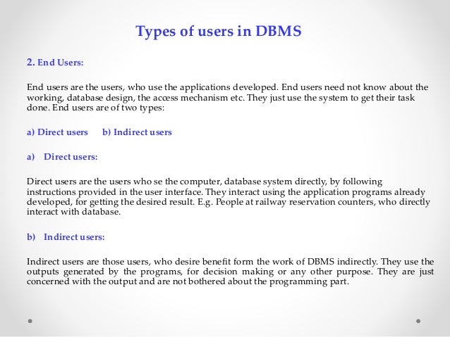 Different types of Data Model in DBMS