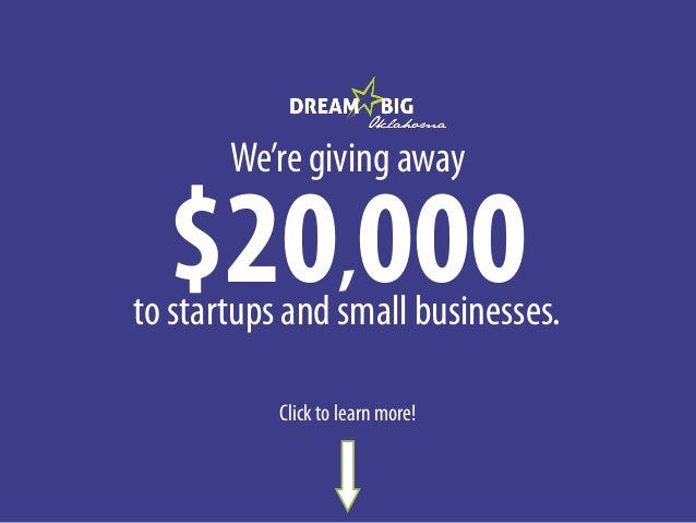We're giving away  $20,000  to startups and small businesses. Click to learn more!