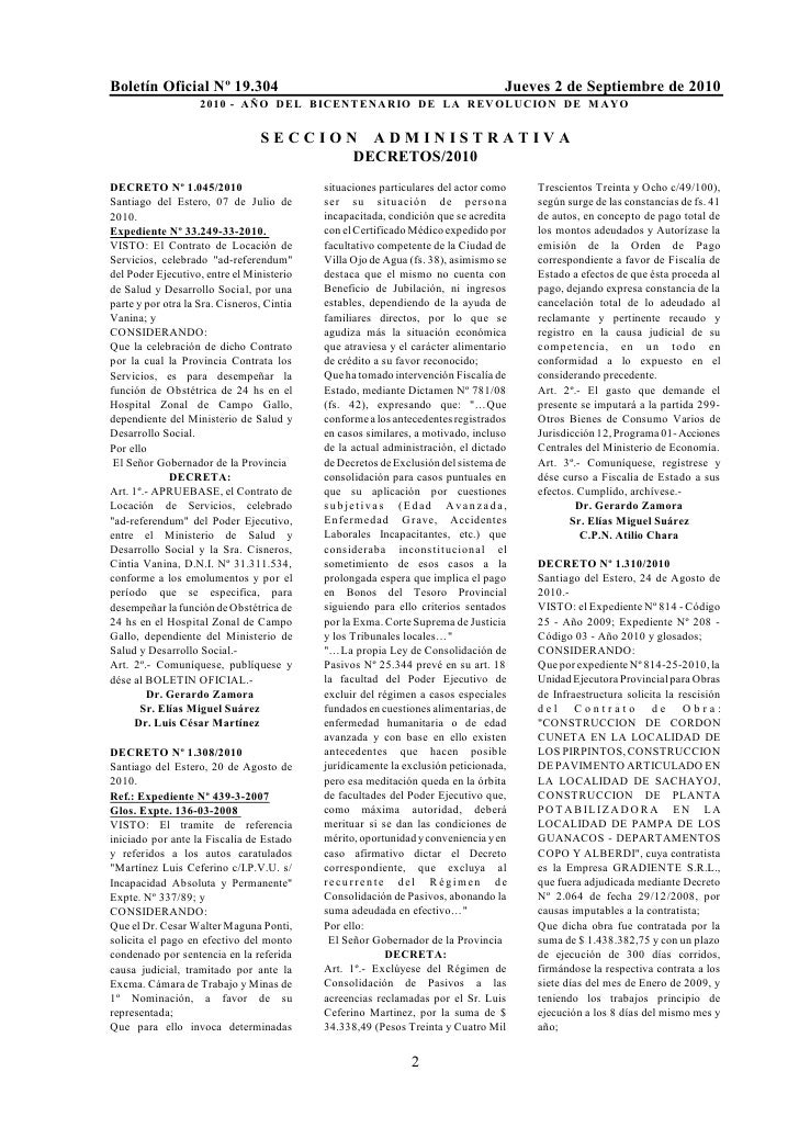 Boletín Oficial Nº 19.304                                                         Jueves 2 de Septiembre de 2010          ...