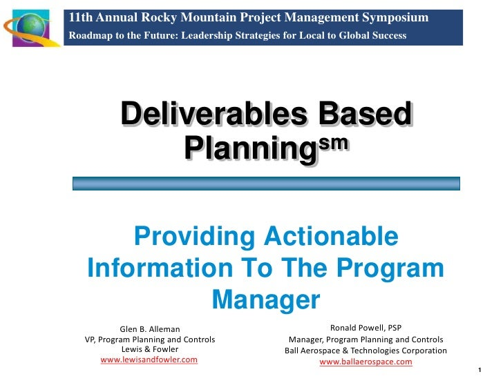 11th Annual Rocky Mountain Project Management Symposium Roadmap to the Future: Leadership Strategies for Local to Global S...