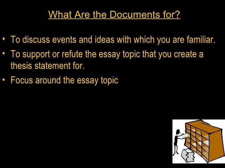 outside information dbq essay