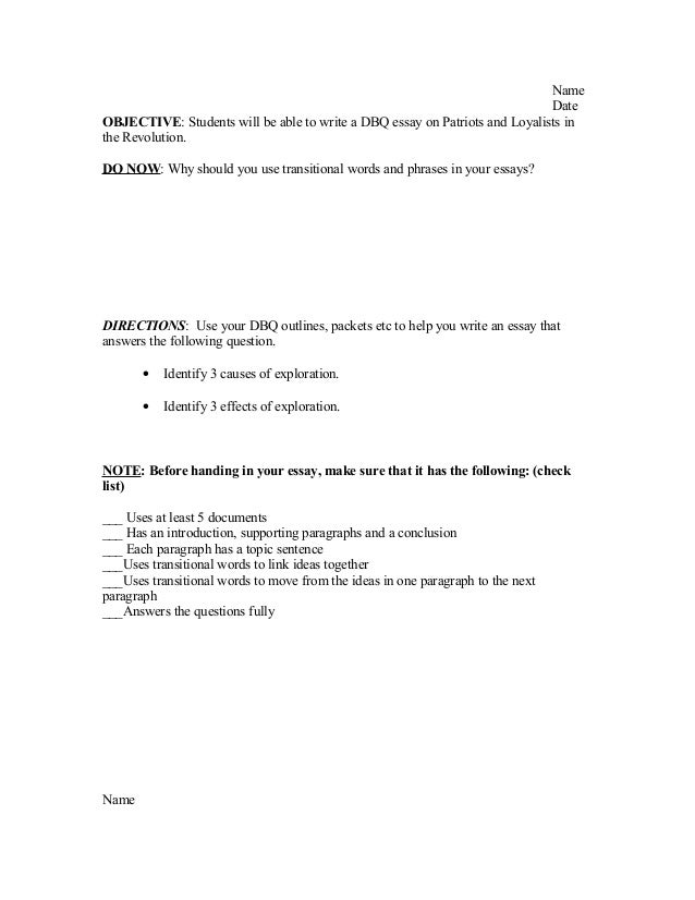 Essay outline - UW Tacoma Home