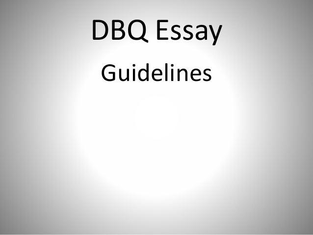 writing dbq essay