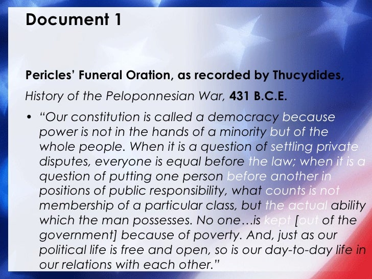 "the two importance matters that the funeral oration of pericles proves Rhetorical methods in pericles' funeral oration - a his personal interest and involvement in the matter until some asked ""is oil two: pericles moves to."