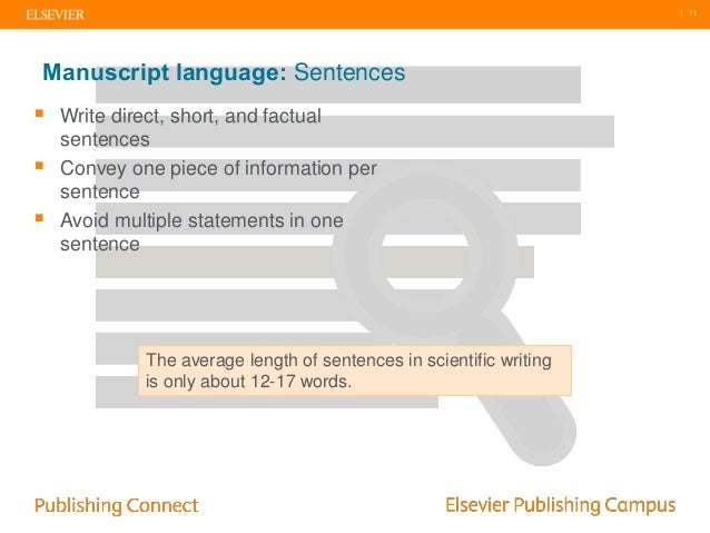 Elsevier language editing