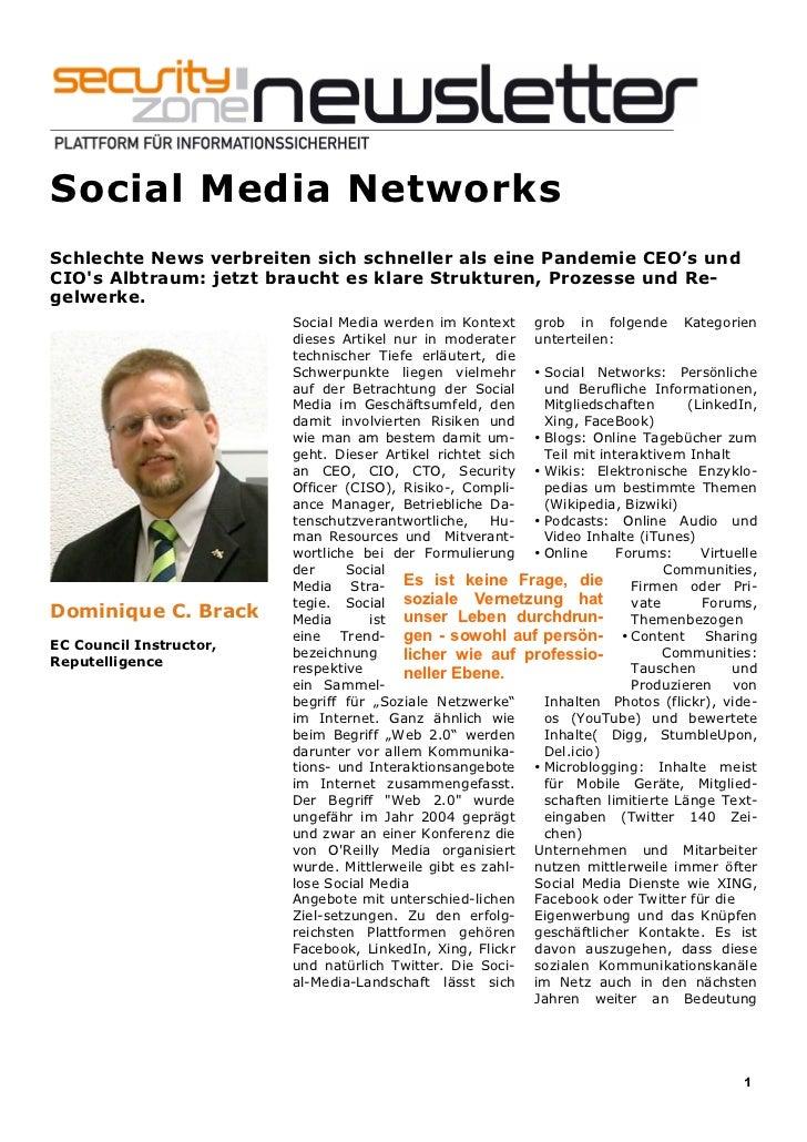 Social Media NetworksSchlechte News verbreiten sich schneller als eine Pandemie CEO's undCIOs Albtraum: jetzt braucht es k...