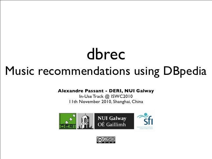 Dbrec - Music recommendations using DBpedia