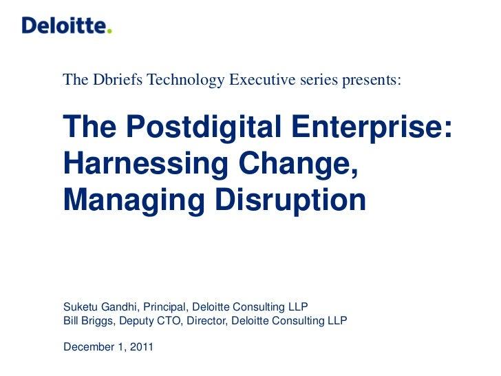 The Postdigital Enterprise: Harnessing Change, Managing Disruption