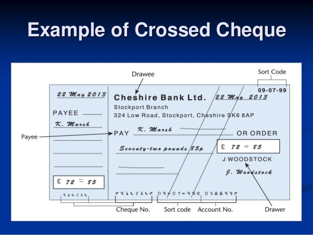 How to write a cheque properly in UK