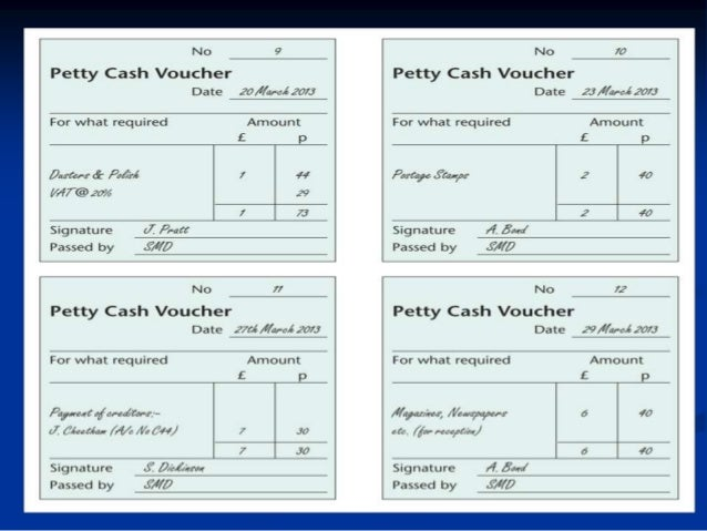 Example of petty cash voucher