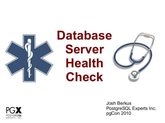 Database Health Check