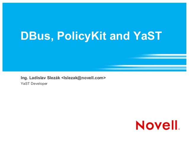 DBus PolicyKit and YaST
