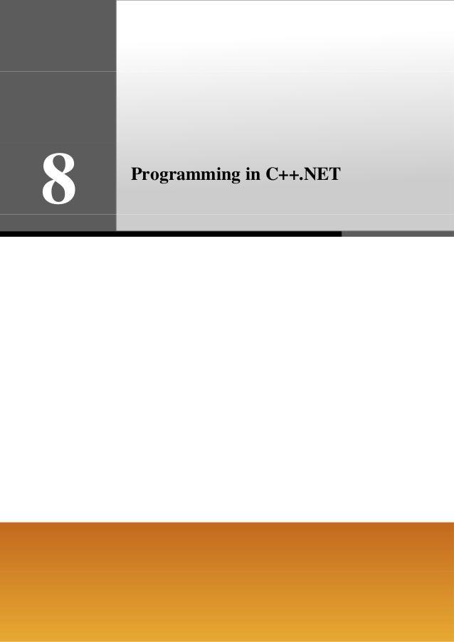 8  Programming in C++.NET