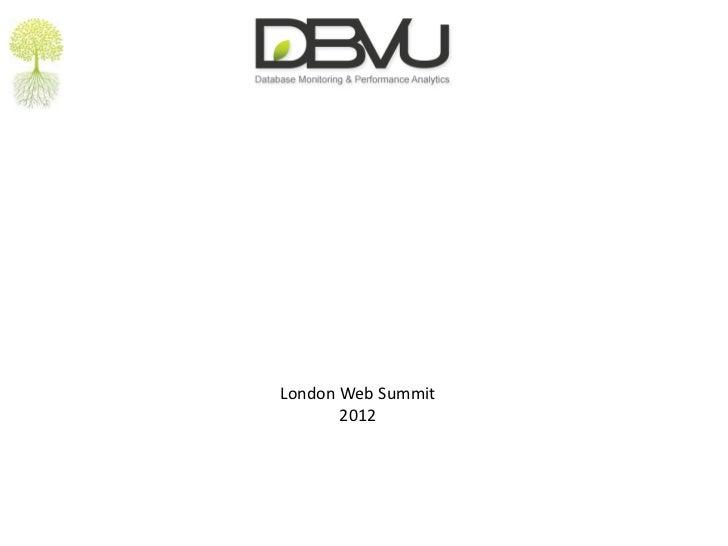 London Web Summit       2012