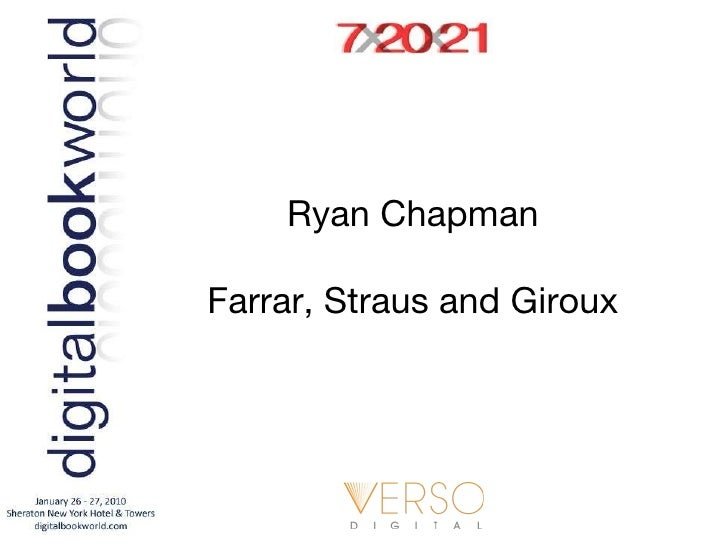 Ryan Chapman Farrar, Straus and Giroux