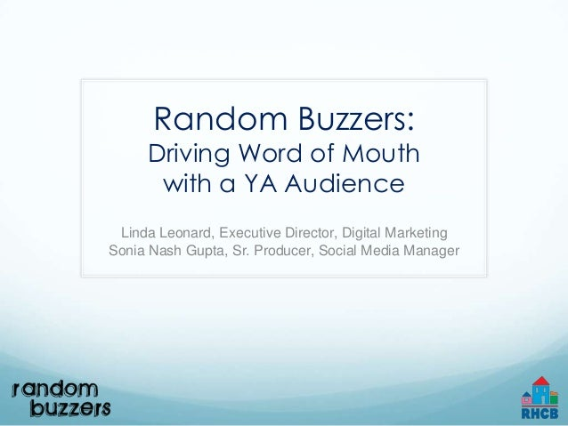 Random Buzzers: Driving word of mouth with a YA audience