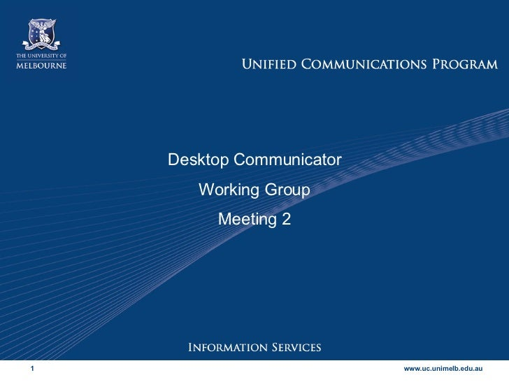 DC Working Group meeting 2