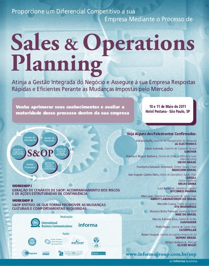 Proporcione um Diferencial Competitivo a sua                                Empresa Mediante o Processo deSales & Operatio...