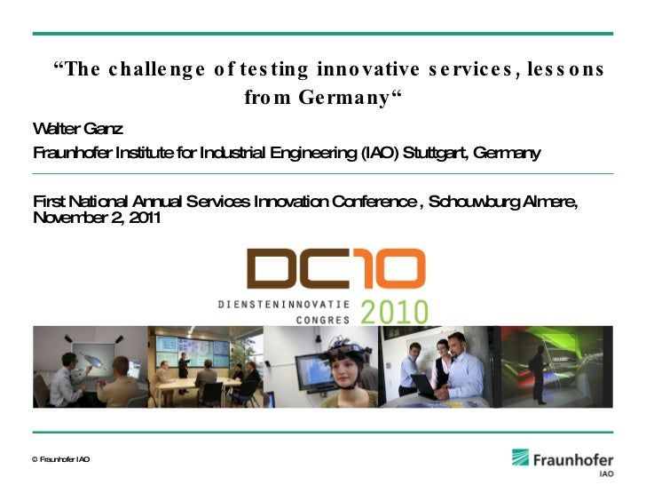 DC10 Walter Ganz - keynote - The challenge of testing innovative services