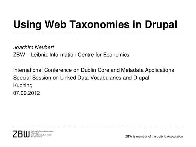 Using Web Taxonomies in Drupal