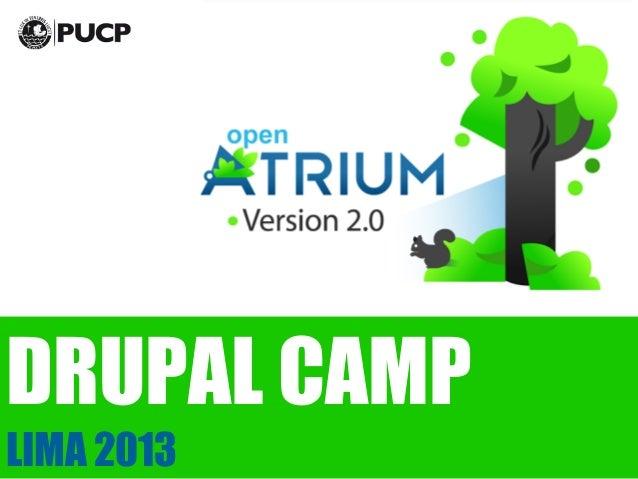 Drupal Camp 2013 -  Lo nuevo de Open Atrium 2