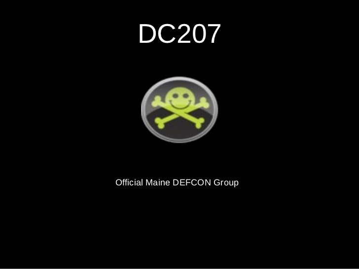 DC207 Official Maine DEFCON Group