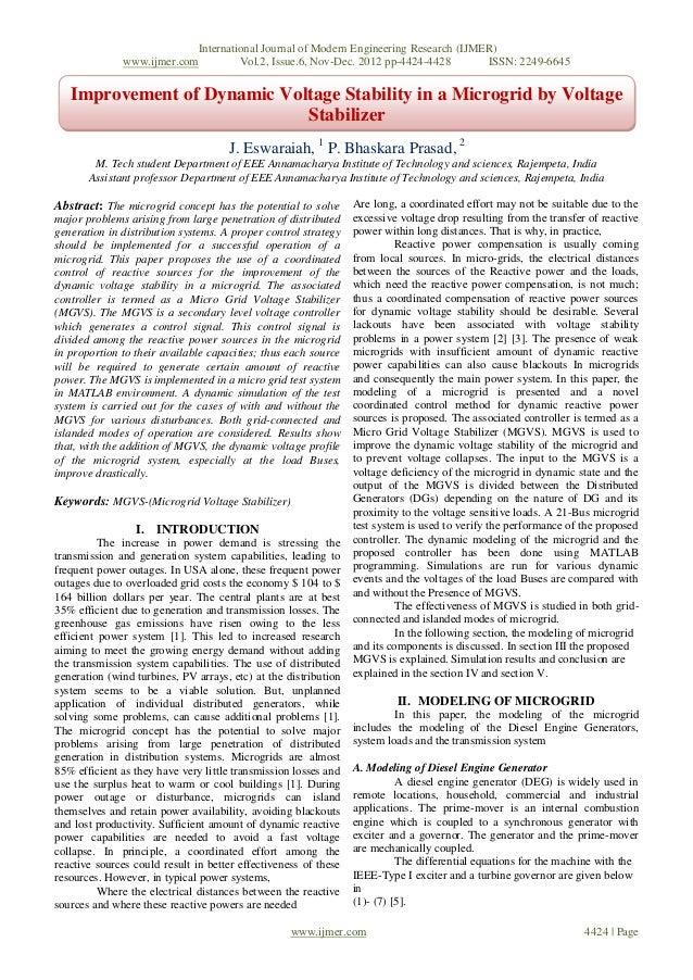 International Journal of Modern Engineering Research (IJMER)              www.ijmer.com         Vol.2, Issue.6, Nov-Dec. 2...