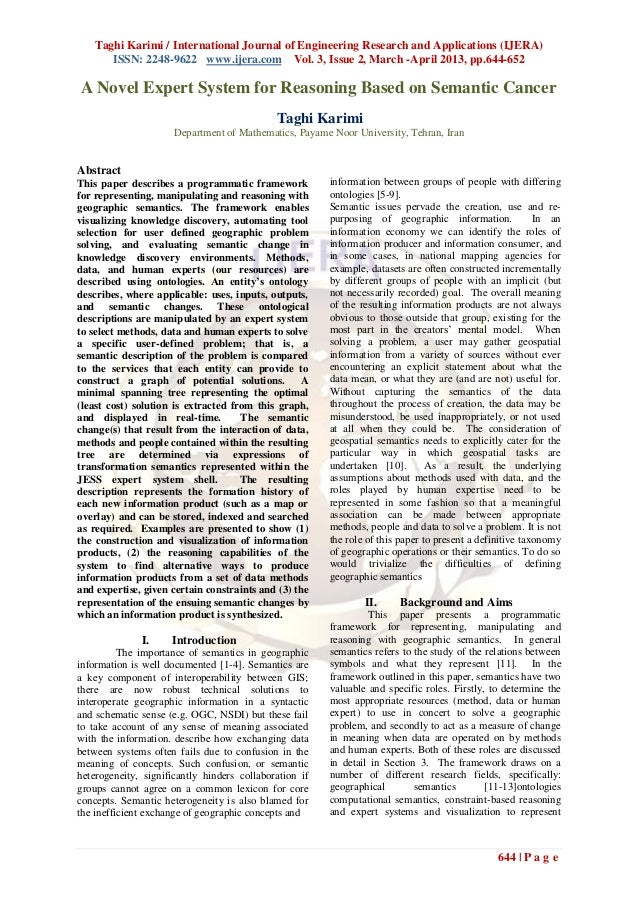 Taghi Karimi / International Journal of Engineering Research and Applications (IJERA)ISSN: 2248-9622 www.ijera.com Vol. 3,...
