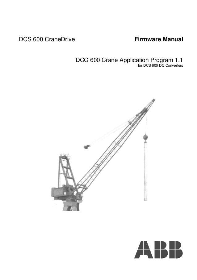 Dc600 crane drive-firmware-manual