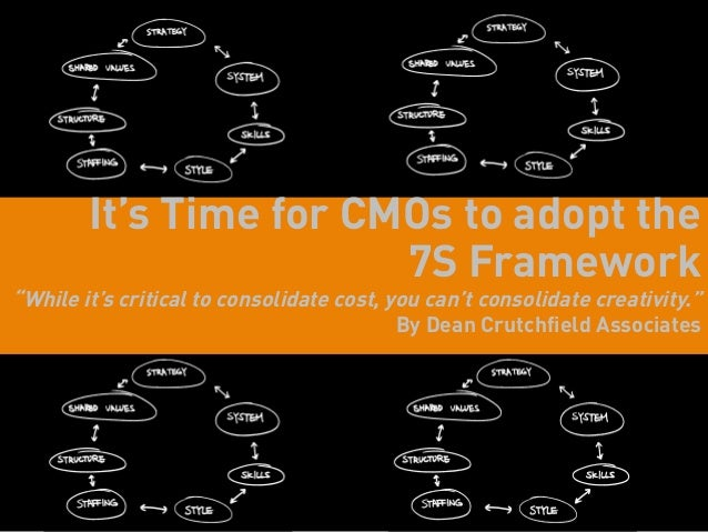 "It's Time for CMOs to adopt the                        7S Framework""While it's critical to consolidate cost, you can't con..."