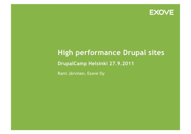 High Performance Drupal Sites