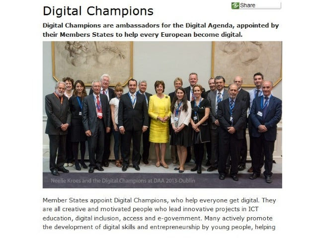 What is the role of the Digital Champions?