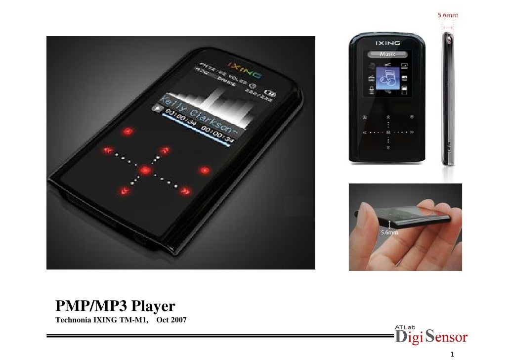 PMP/MP3 Player Technonia IXING TM-M1,   Oct 2007                                        1