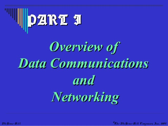 McGraw-Hill ©The McGraw-Hill Companies, Inc., 2004 Overview ofOverview of Data CommunicationsData Communications andand Ne...