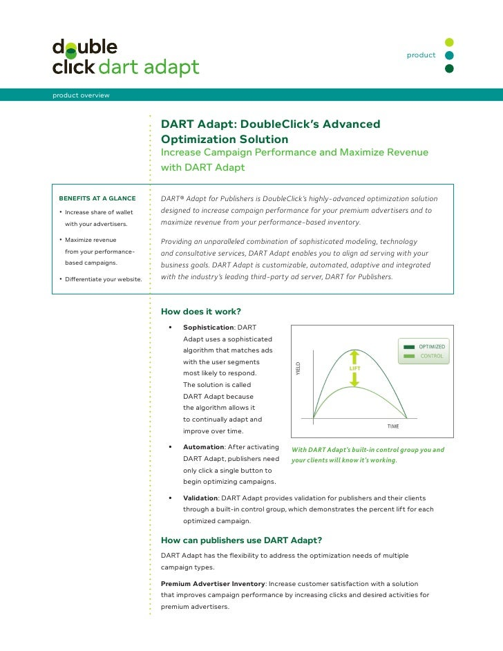 product    product overview                                      DART Adapt: DoubleClick's Advanced                       ...