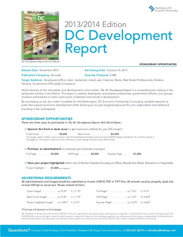 DC Development Report Sponsorship Kit
