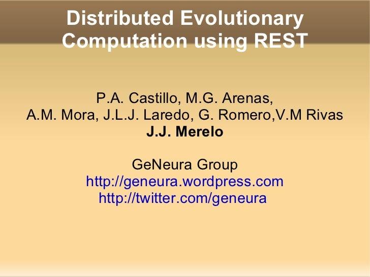 Distributed Evolutionary Computation using REST