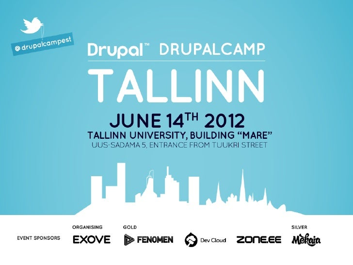 Welcome to Drupalcamp Estonia 2012