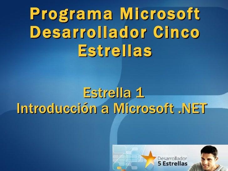 Dce1 introduccion microsoft.net