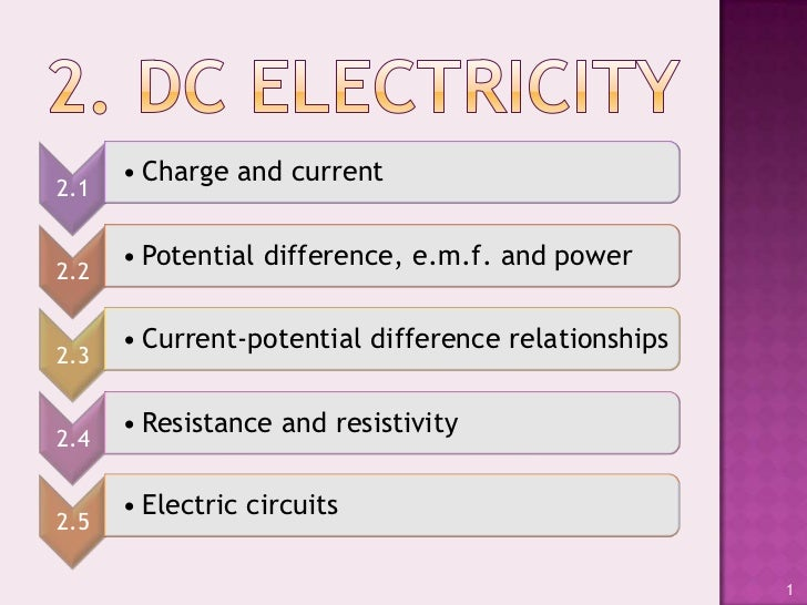 • Charge and current2.1      • Potential difference, e.m.f. and power2.2      • Current-potential difference relationships...