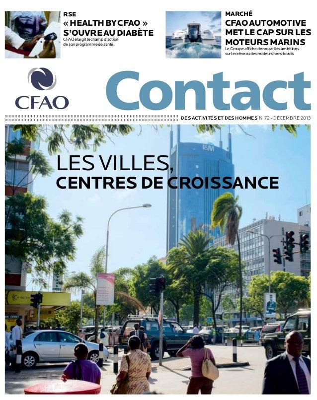 marché  rse  «Health by CFAO » s'ouvre au diabète CFAO élargit le champ d'action de son programme de santé.  CFAO Automo...