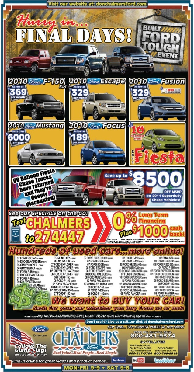 Don Chalmers Ford Final Days of Built Ford Tough Event | Albuquerque Ford Dealer