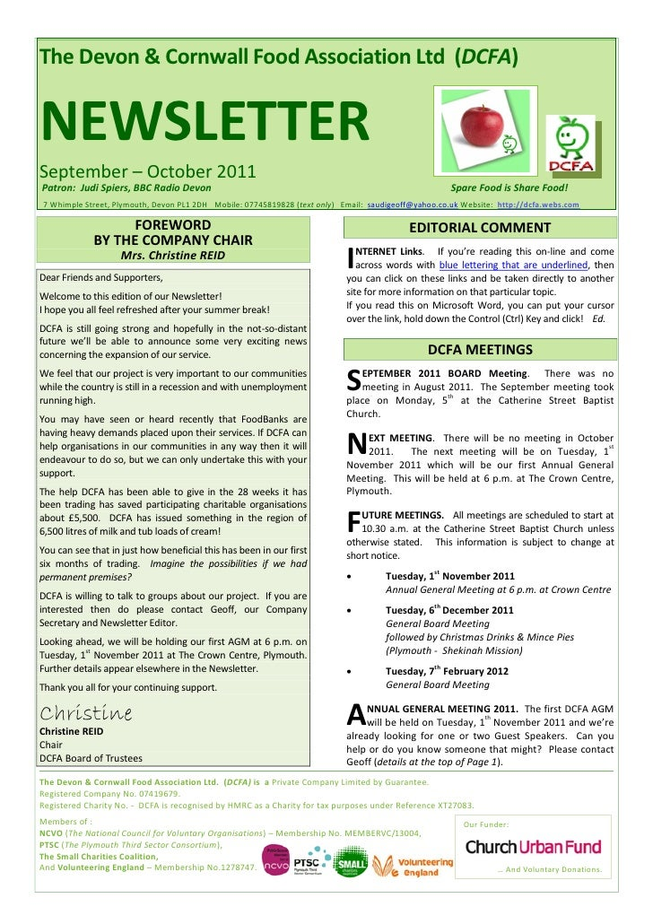 DCFA Sep-Oct  2011 Newsletter
